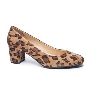 Chinese Laundry Leopard Block Heel